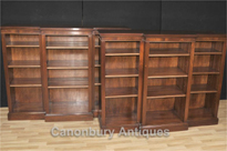 Pair Regency Breakfront Bookcases