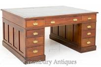Victorian Partners Desk Mahogany