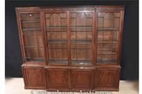 George III Breakfront Bookcase Mahogany 1800