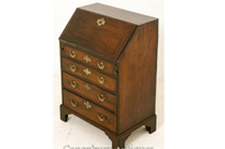 George II Mahogany Bureau Chest Desk 1750