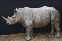 Giant Bronze Rhino Rhinocerous