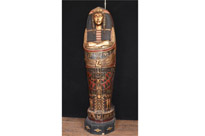 Giant French Egyptian Mummy Cabinet