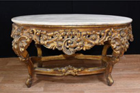Italian Baroque Oval Gilt Coffee Table