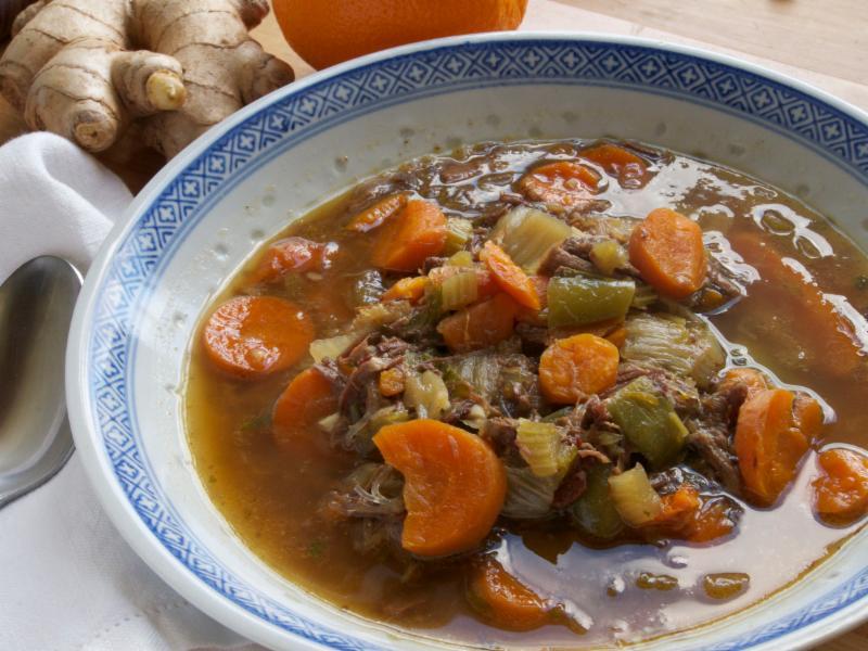 Ginger-Orange Beef Soup