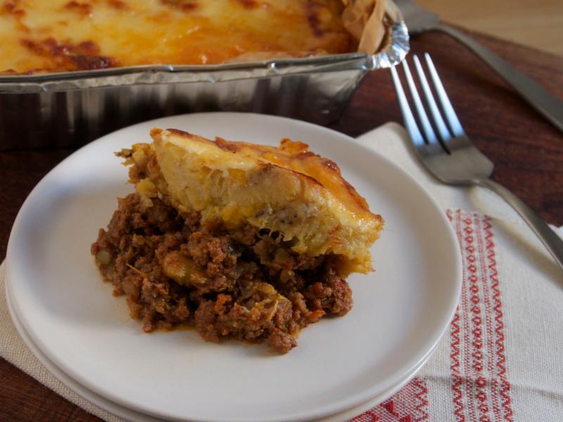 Dominican Beef & Plantain Casserole