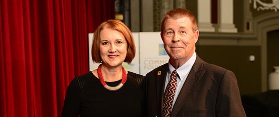 Kathy Hall and Dave O'Clair