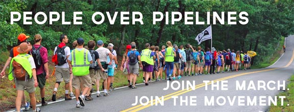 People over pipelines march