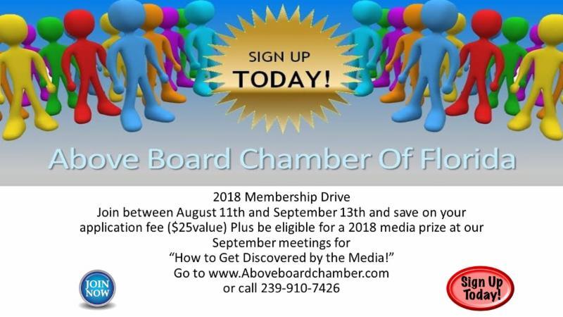 Membership Drive flyer 8-18