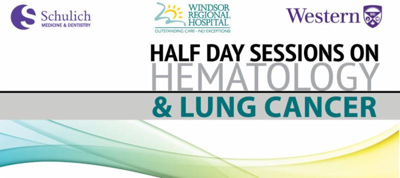 Hematology and Lung Cancer Friday May 13, 2016
