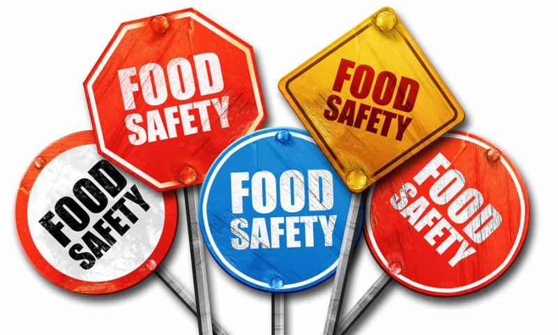 food safety, 3D rendering, rough street sign collection