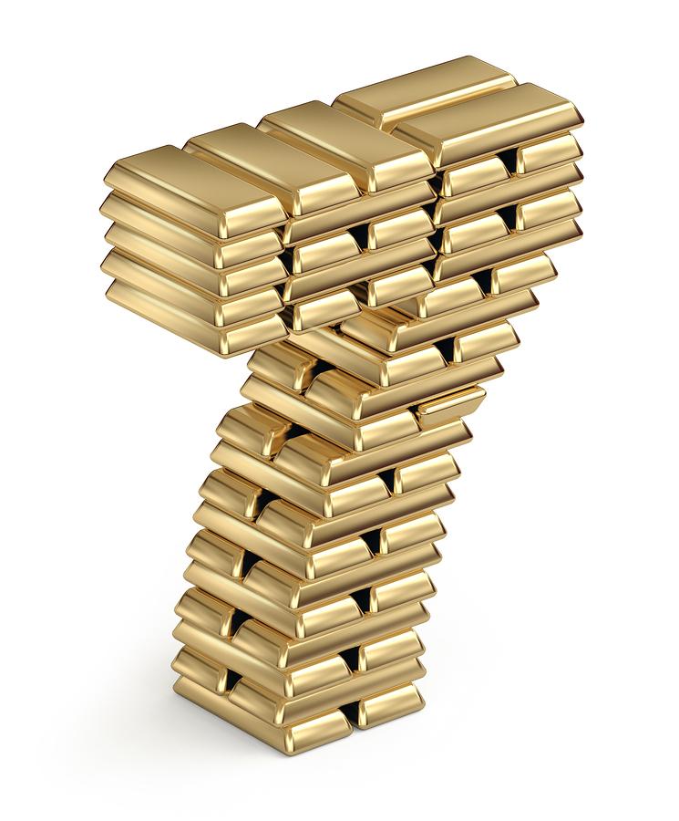 Gold-Bars-Number-Seven