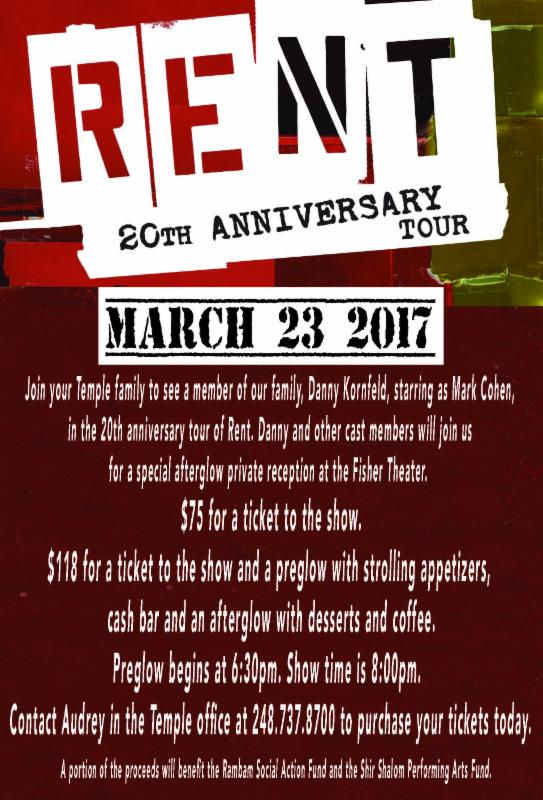 """RENT"": 20th Anniversary Tour @ Fisher Theatre"