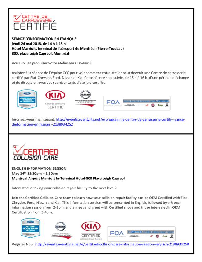 Certified Collision Care Newsletter April 2018 Certified
