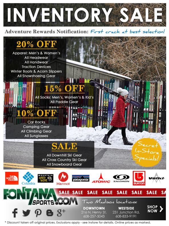 Fontana Sports Inventory Sale