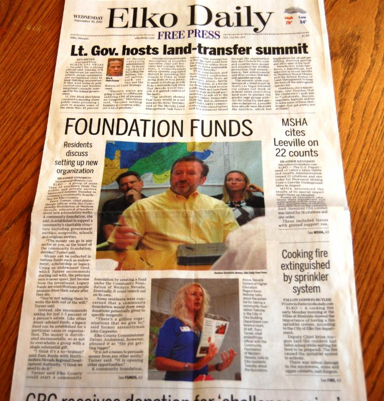 Front Page Elko Daily Free  Press