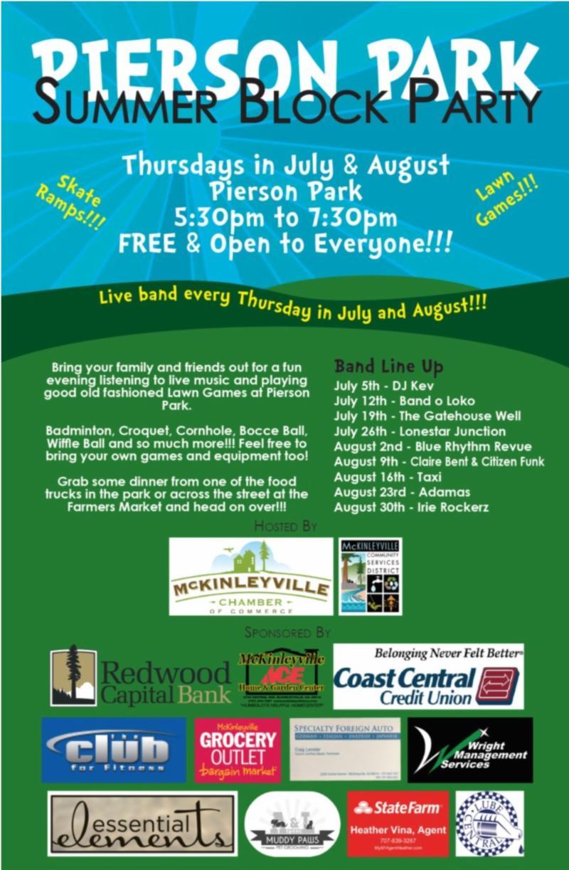 Music in the Park - Summer Block Party | McKinleyville