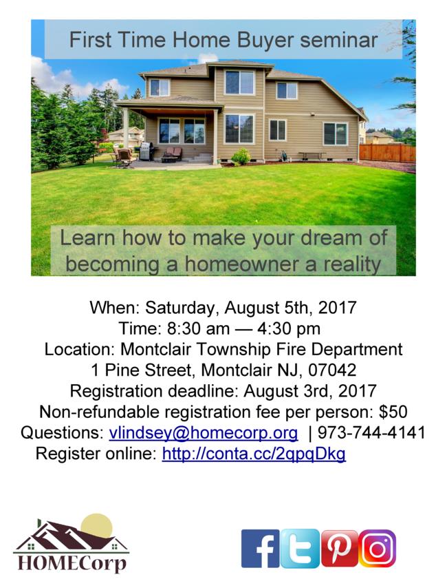 July 2017 First Time Home Buyer Seminar Rescheduled
