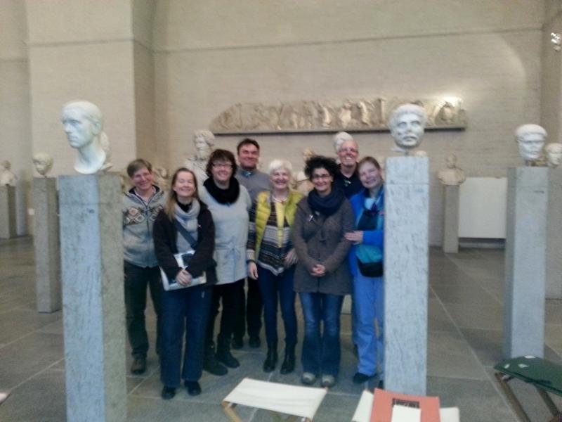 Teilnehmer in der Glyptothek