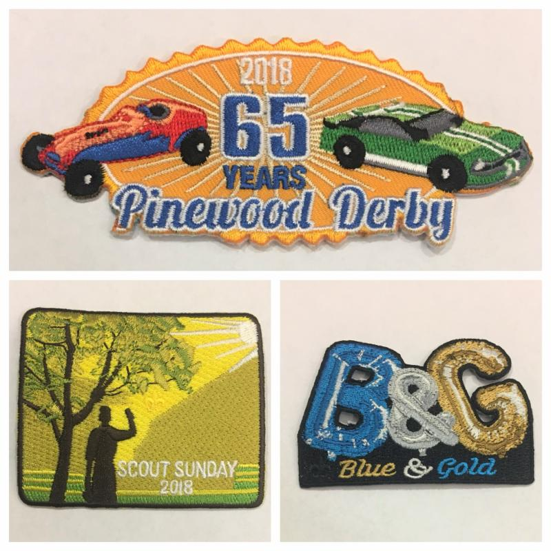 2018 Pinewood Derby Blue And Gold Scout Sunday Patches