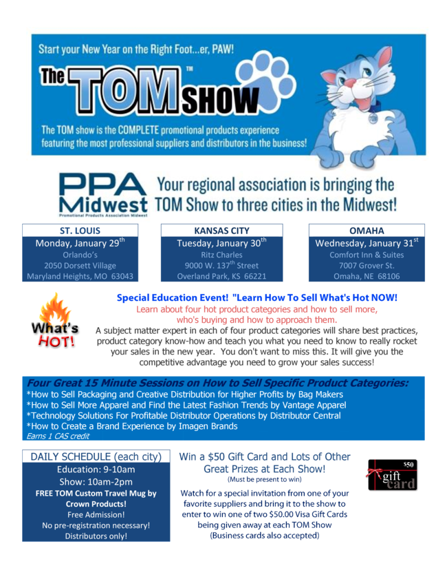 2018 TOM Show - Not Just Another Traveling Rep Show