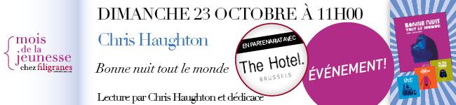 Dimanche 23 octobre à 11h00 - Chris Haughton