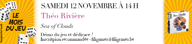 Samedi 12 novembre à 14h - Théo Rivière - mois du jeu