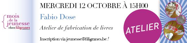 Mercredi 12 octobre à 1h - Fabio Dose - Atelier de fabrication de livres