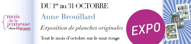 Du 1er au 31 octobre - exposition Anne Brouillard - Mois de la jeunesse