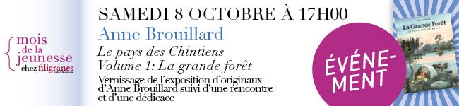 Samedi 8 octobre à 17h - Anne Brouillard