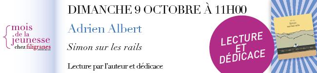 Dimanche 9 octobre à 11 - Adrien Albert - Lecture de contes et dédicace