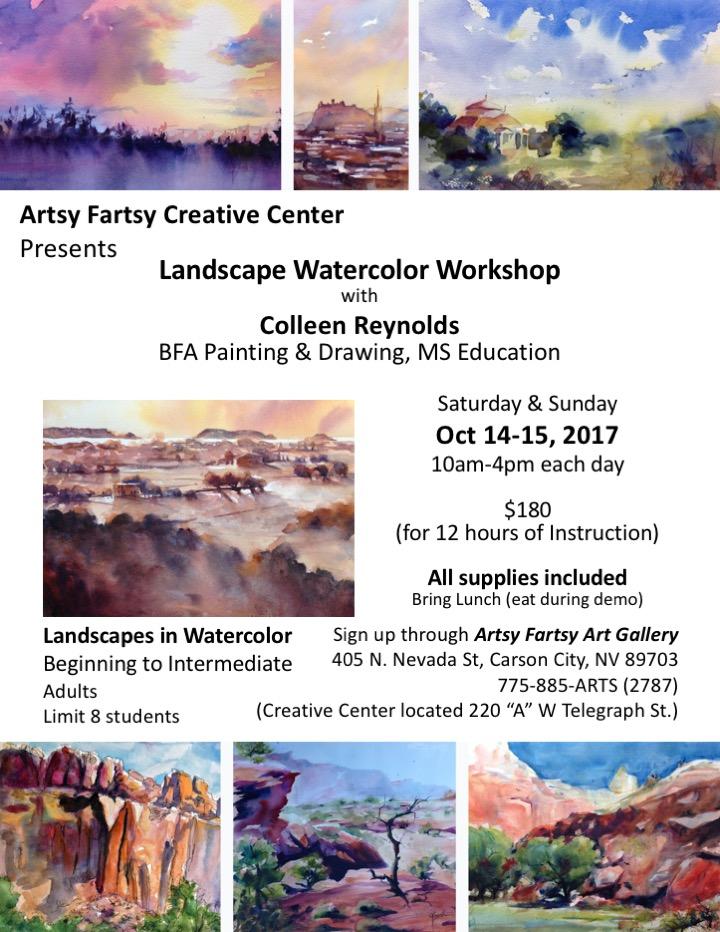 Course Description - Landscape Watercolor Workshop - Carson City