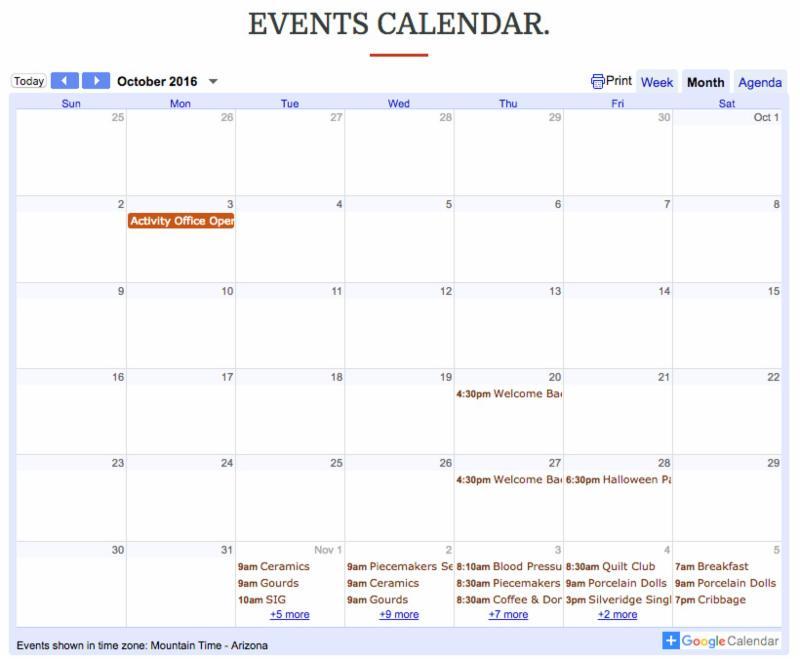 Silveridge Calendar