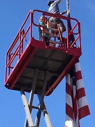 Flag pole raising 1