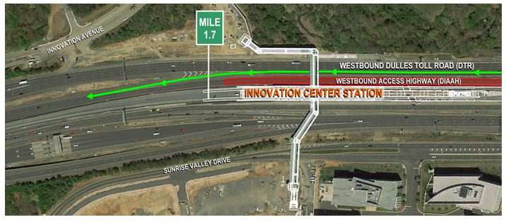 Westbound Dulles International Airport Access Highway Traffic to be