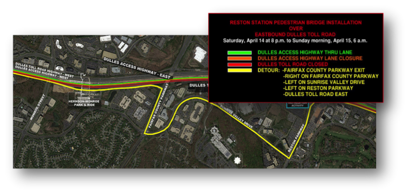 REMINDER: Overnight Lane Closures and Detours on Eastbound Dulles