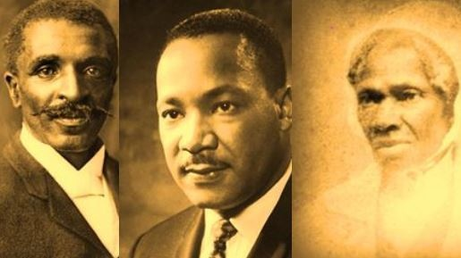 Sepia portraits of famous African Americans
