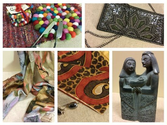 Photos of hand made products from asia sold at Hands Around the World.