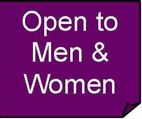 Open to Men & Women purple box