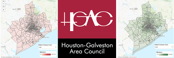 H-GAC logo with 13- county maps on both sides