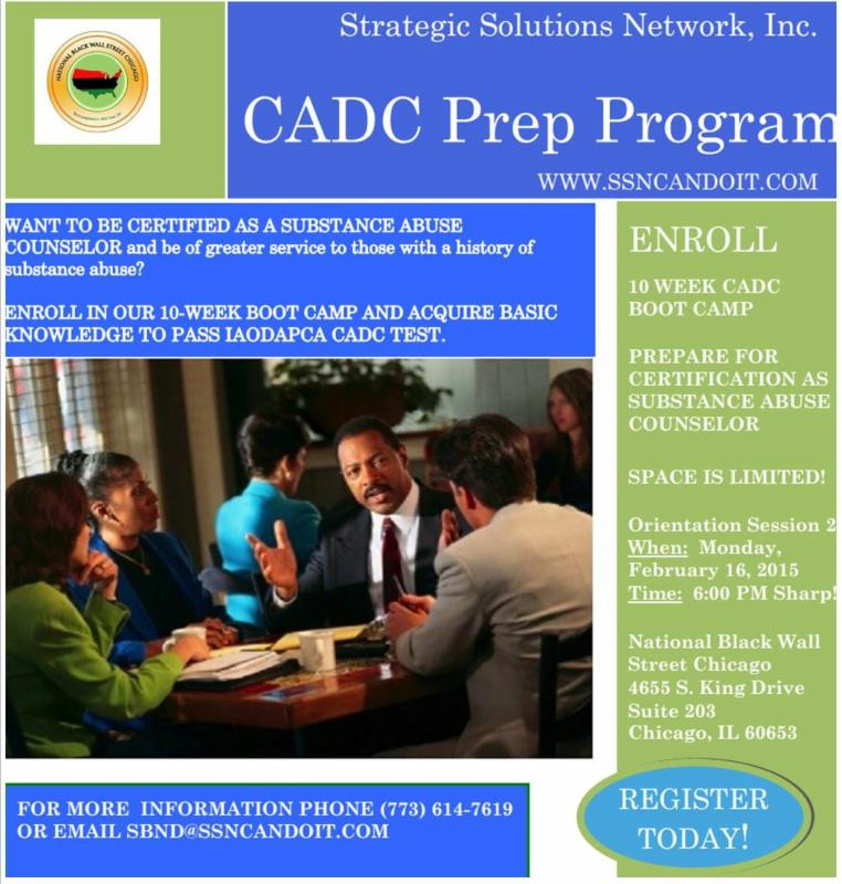 Ssn Cadc Prep Program Orientation Two