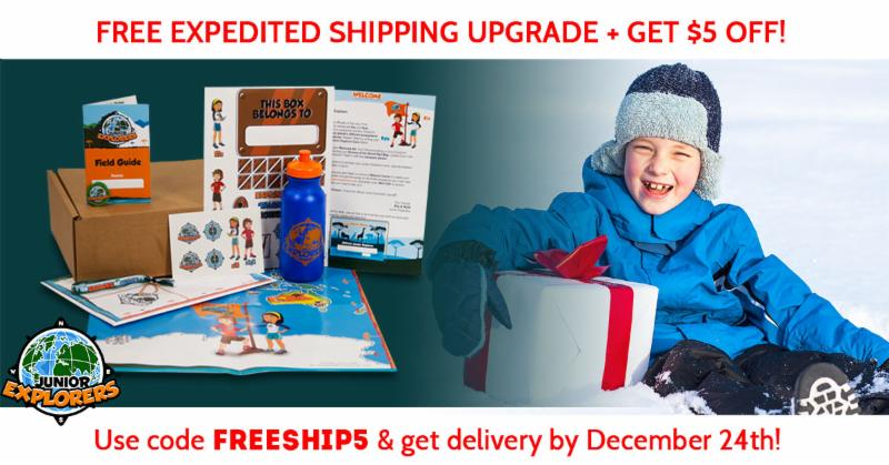 Free expedited shipping upgrade and get $5 off! by Junior Explorers