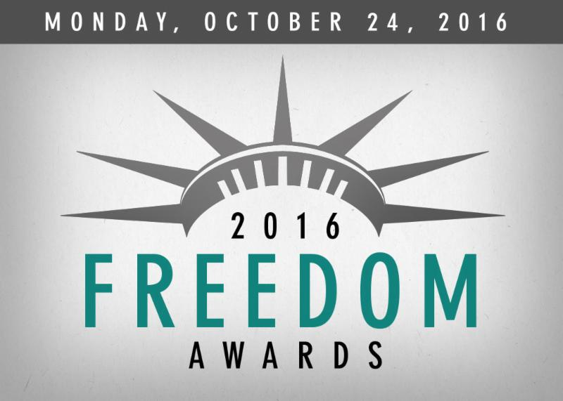 Freedom Awards, Monday, October 24, 2016 6:30 p.m.