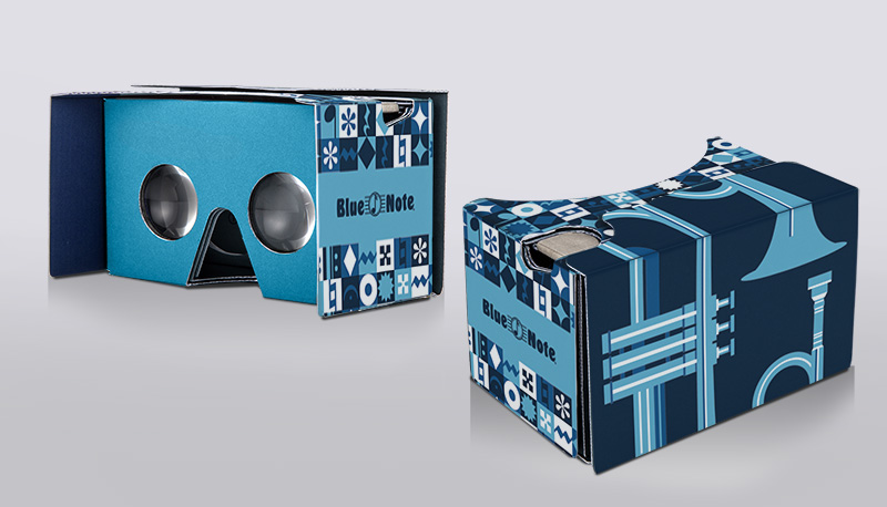 Blue Note Branded Google Cardboard Headset