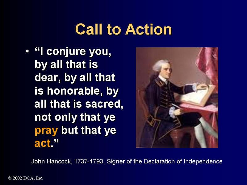 John Hancock & Action Quote