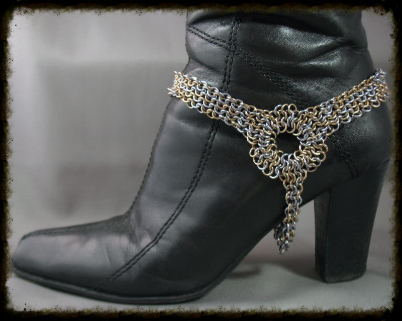 chain maille boot jewelry