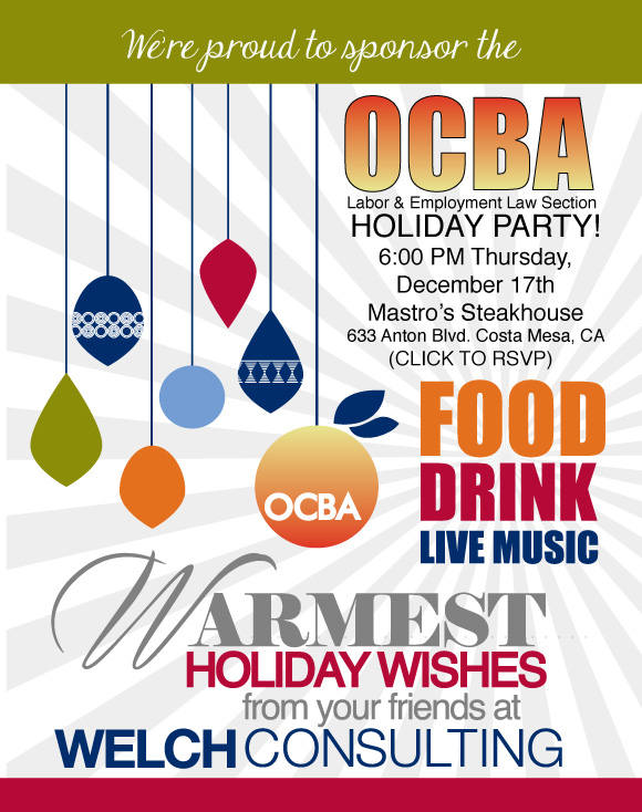OCBA Holiday Social Invite