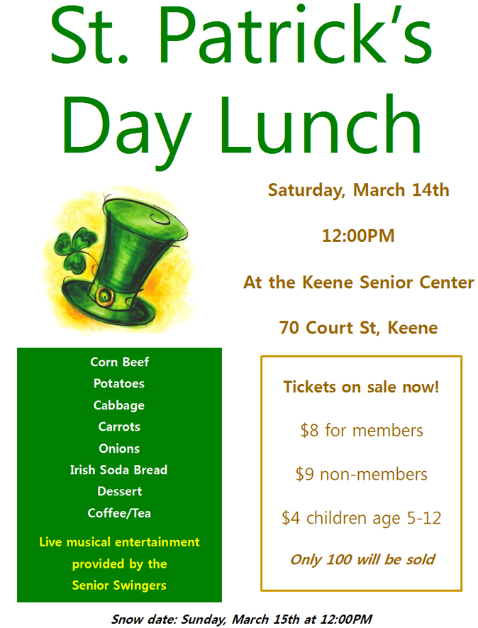 St. Patrick's Day Lunch