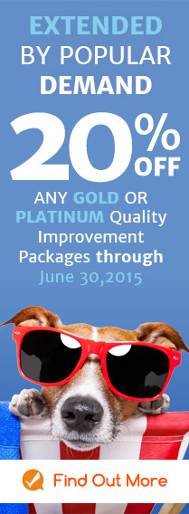 250 ADDITIONAL FREE TEMPLATES with GOLD & PLATINUM Quality Improvement Packages - Ends 06/30/15 - Find Out More