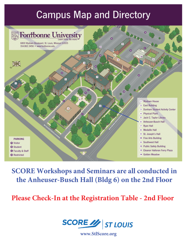 Fontbonne Campus Map.Score Seminar How To Start And Manage Your Own Business