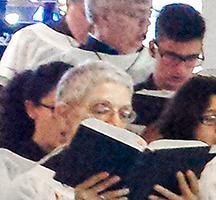 First choir practice of the season